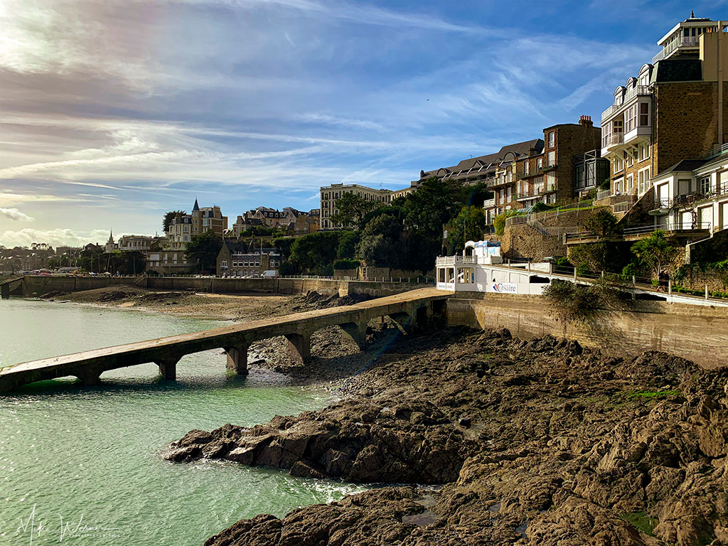 Piers going to the Dinard promenade