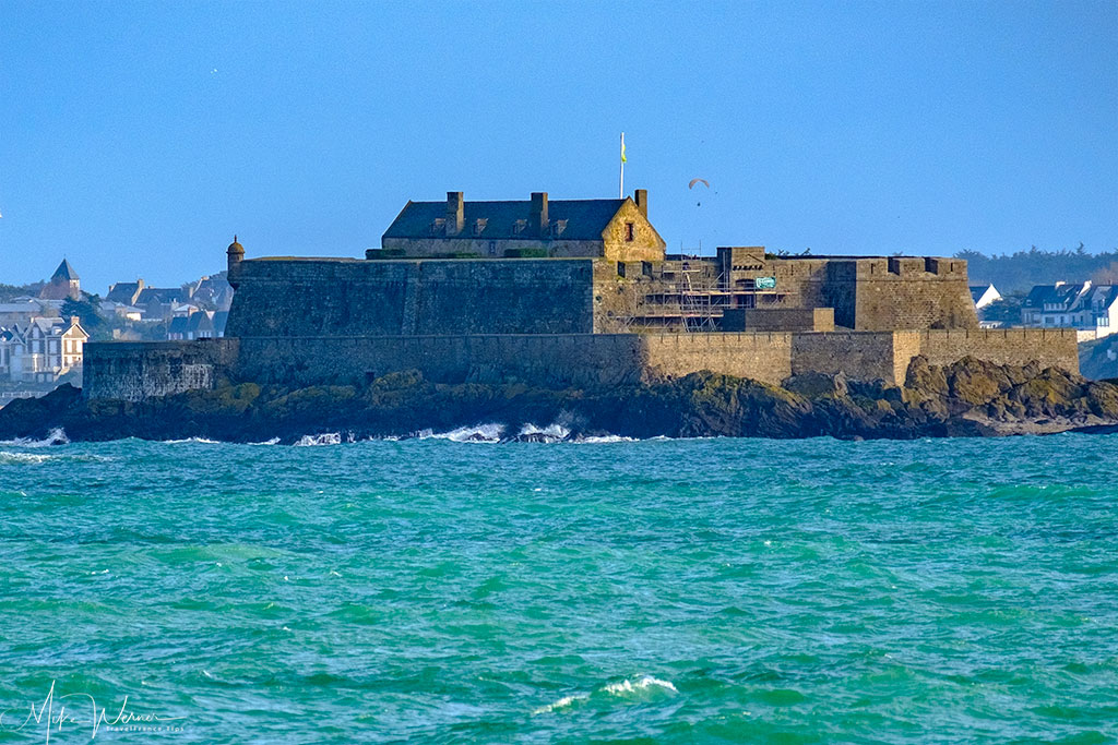 Close up of the fortress in Dinard