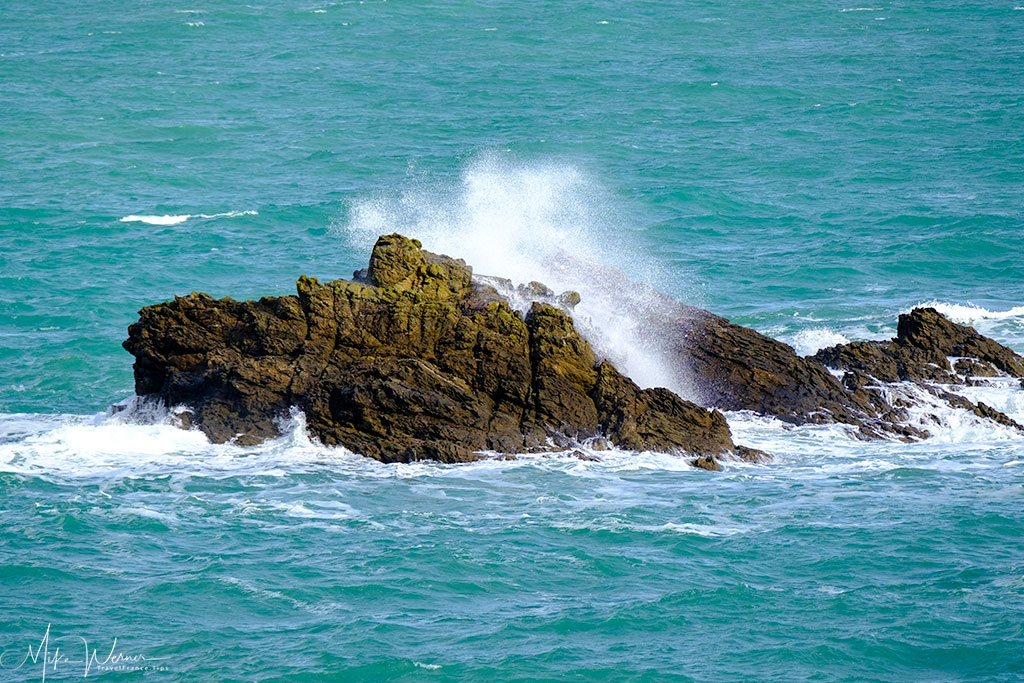 Large rocks/boulders in the sea just in front of the Dinard coastline'