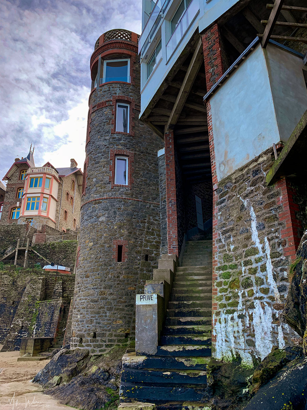 A tower from one of the seaside villas in Dinard