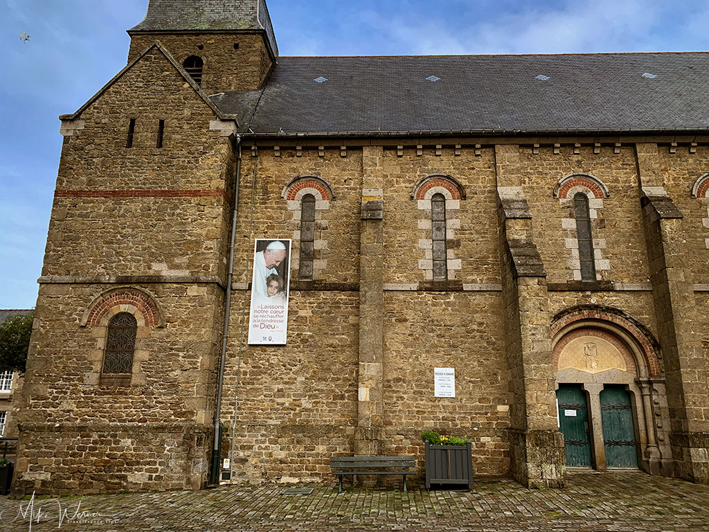 Side view of the Eglise de Saint Enogat in Dinard