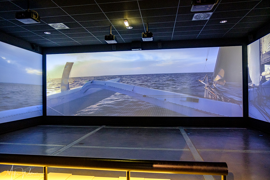 Big 180° cinema in the museum