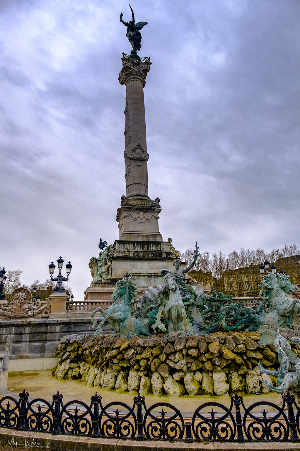 The Girondin Monument in Bordeaux, side view