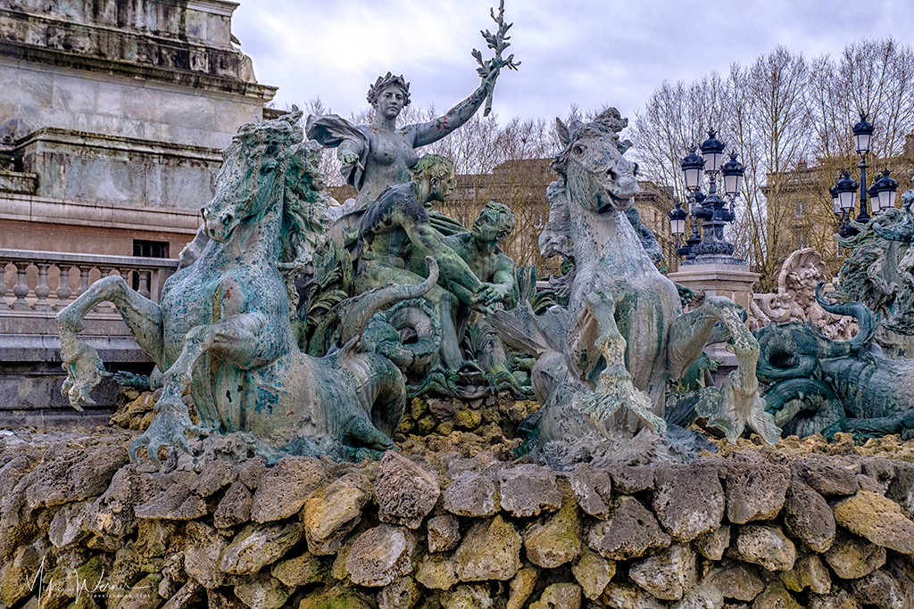 The other sculpted fountain of the Girondin Monument in Bordeaux