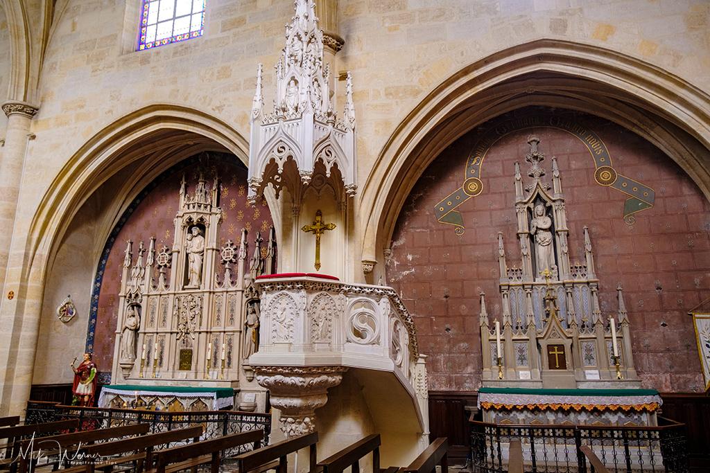 Pulpit of the Saint Eloy (Eloi) church in Bordeaux