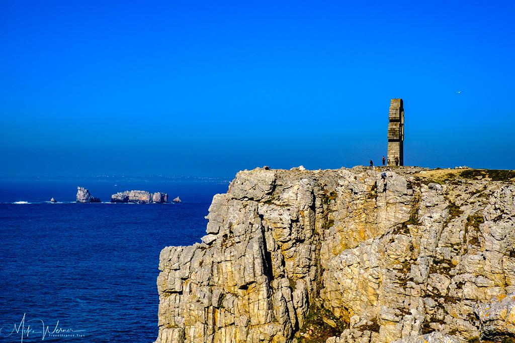 The 'Croix de Pen-Hir' monument of Camaret-sur-Mer seen from a distance