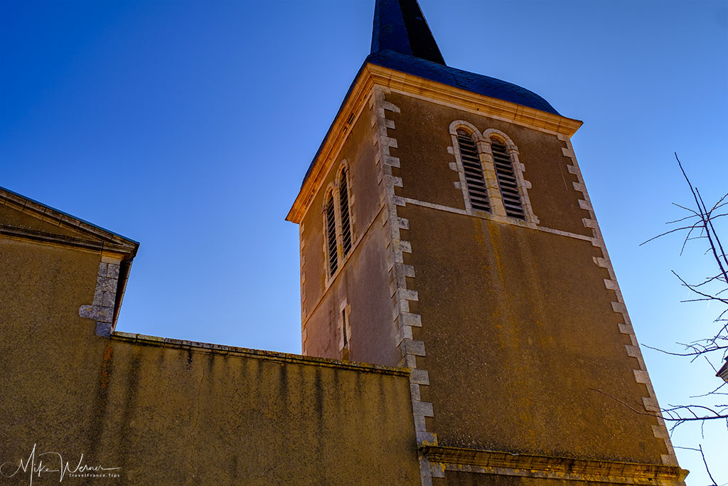 The steeple of the Eglise Saint Nicolas church in Les Sables-d'Olonne
