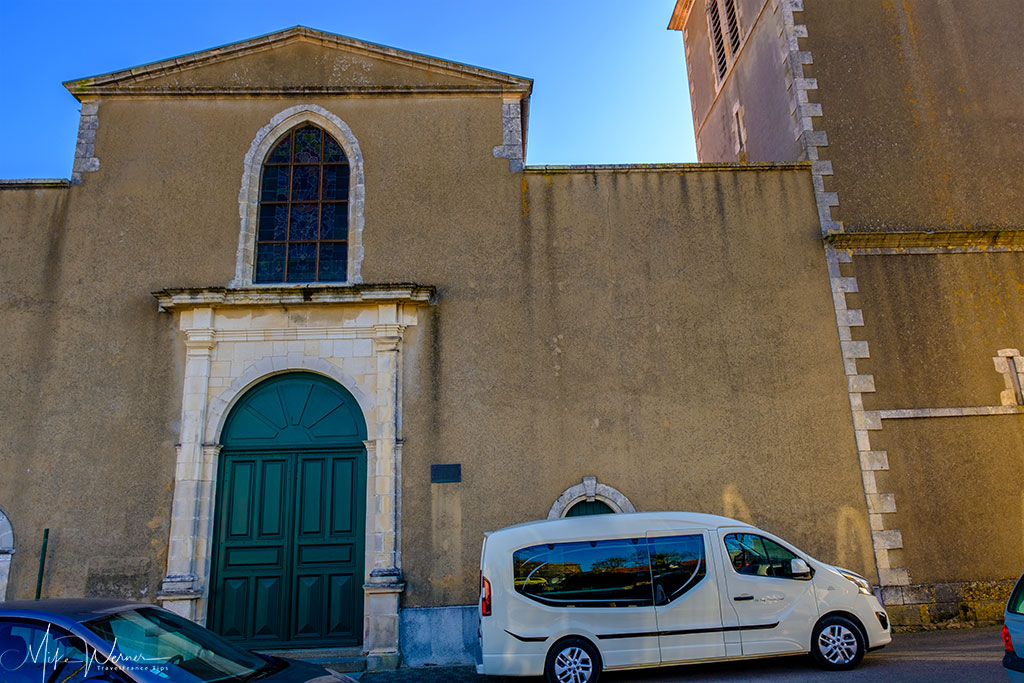 Close up of the Eglise Saint Nicolas church in Les Sables-d'Olonne