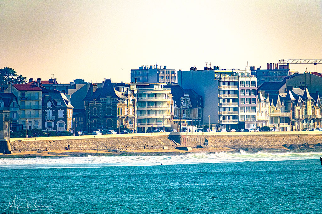 High rises on the beach front of Les Sables-d'Olonne