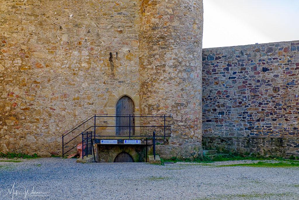 Sea Museum entrance at the Saint-Clair castle at Les Sables-d'Olonne