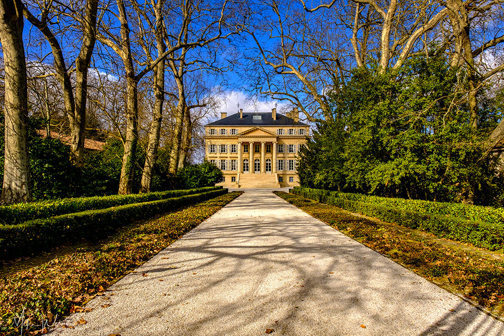 Chateau Margaux castle in Margaux-Cantenac