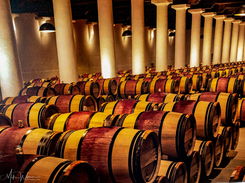Wine barrels at the Chateau Margaux