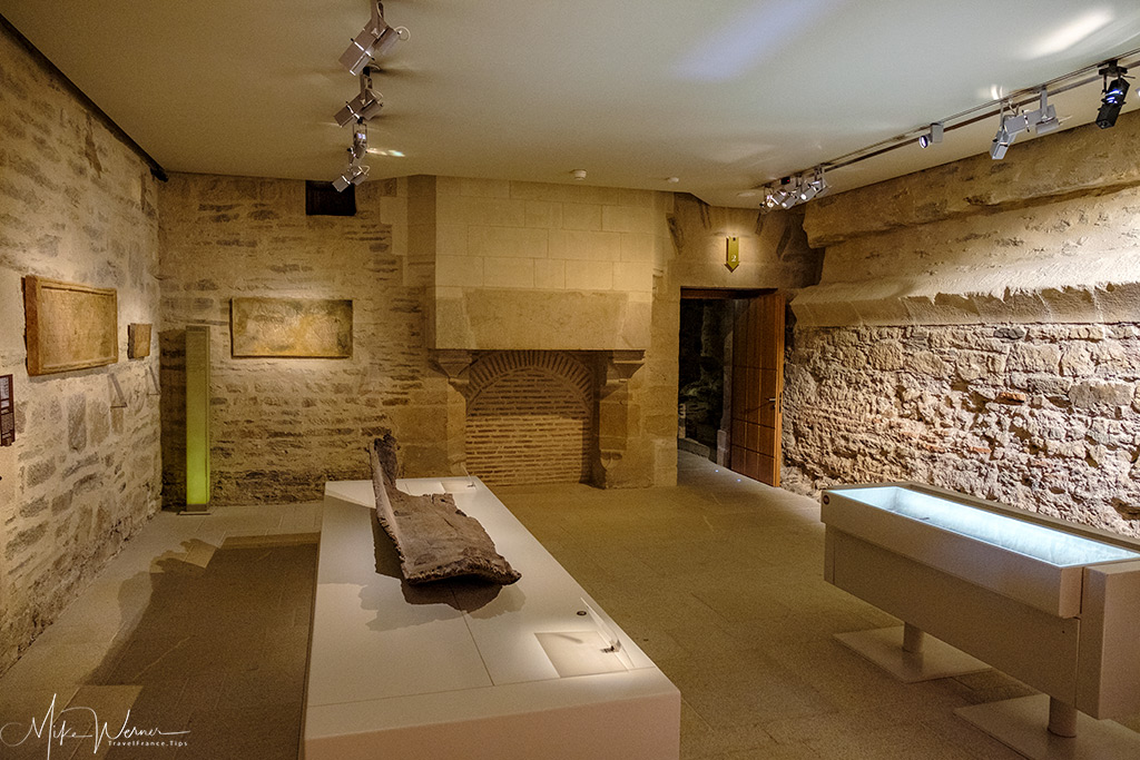 One of the chambers inside the Nantes castle museum