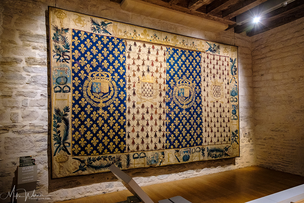 Tapestry inside the Nantes castle museum
