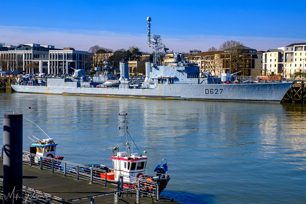 The French destroyer Maille-Breze, a floating museum in the Loire river in Nantes
