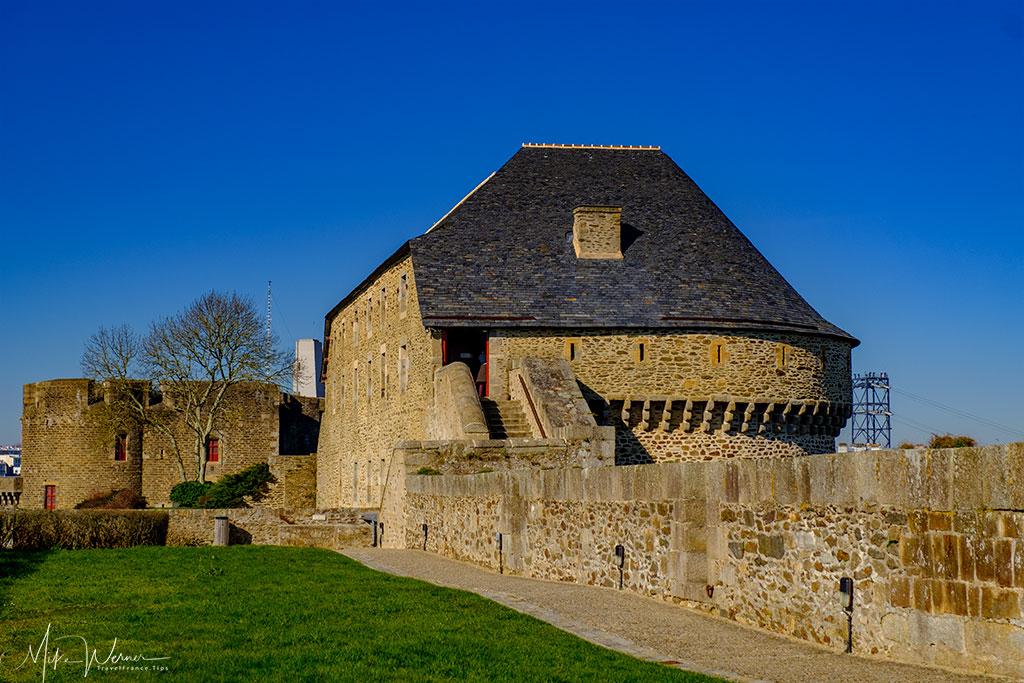 Very wide walls of the Brest Castle/Fortress in Brittany
