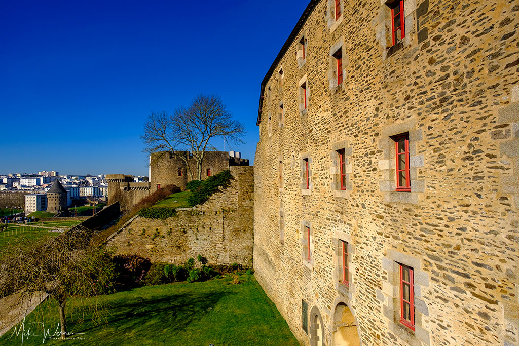Part of Brest city seen from the Brest Fortress/Castle in Brittany