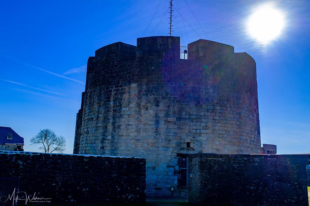 Defensive tower of the Brest Castle/Fortress in Brittany
