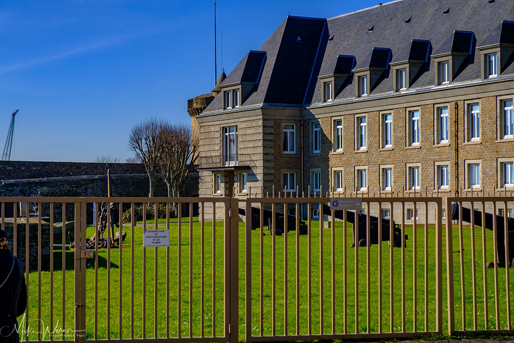 French Navy Prefecture base inside the Brest Castle/Fortress in Brittany