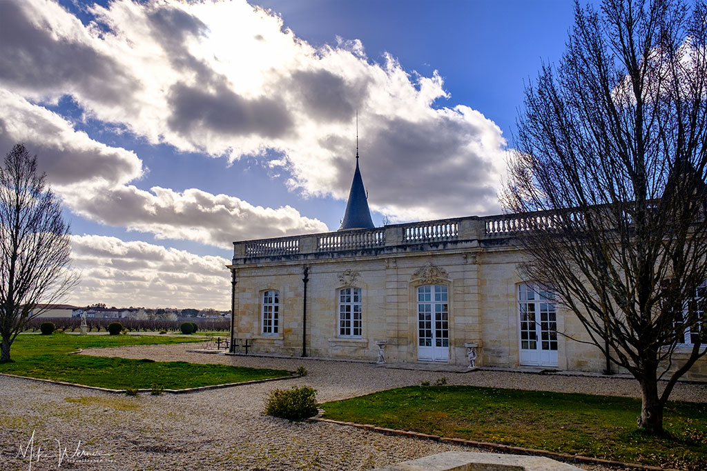 side view of the Chateau Marojallia at Margaux-Cantenac