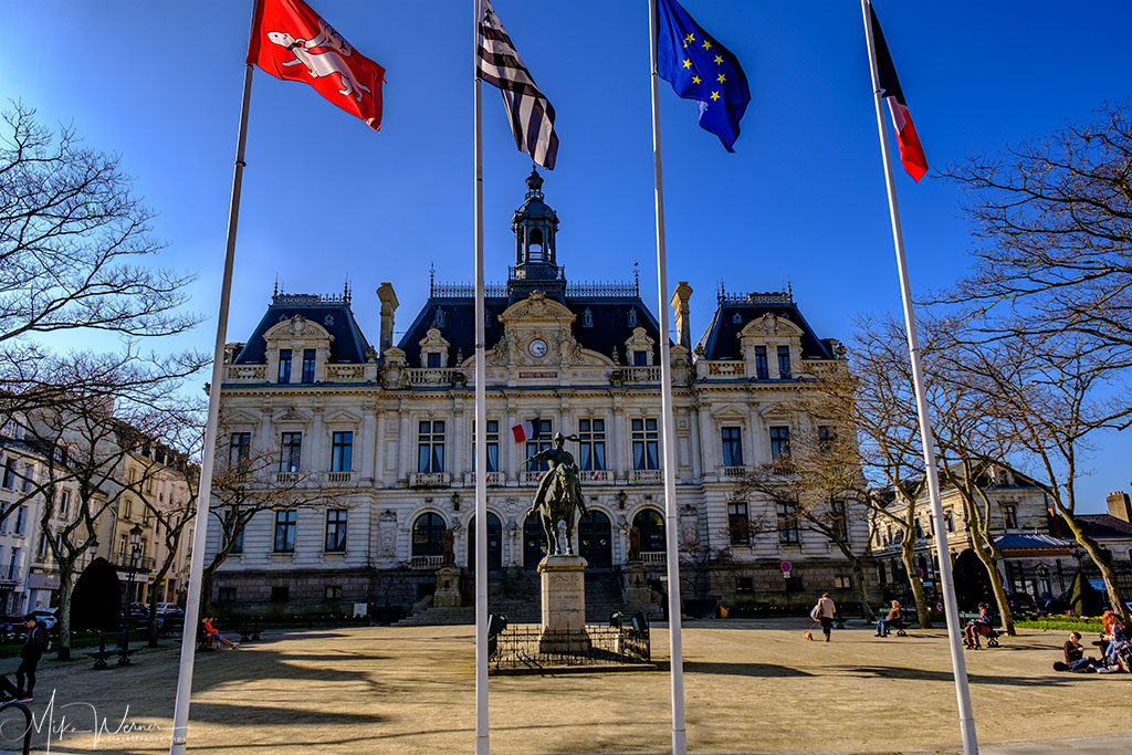 City Hall (Mairie) of Vannes in Brittany
