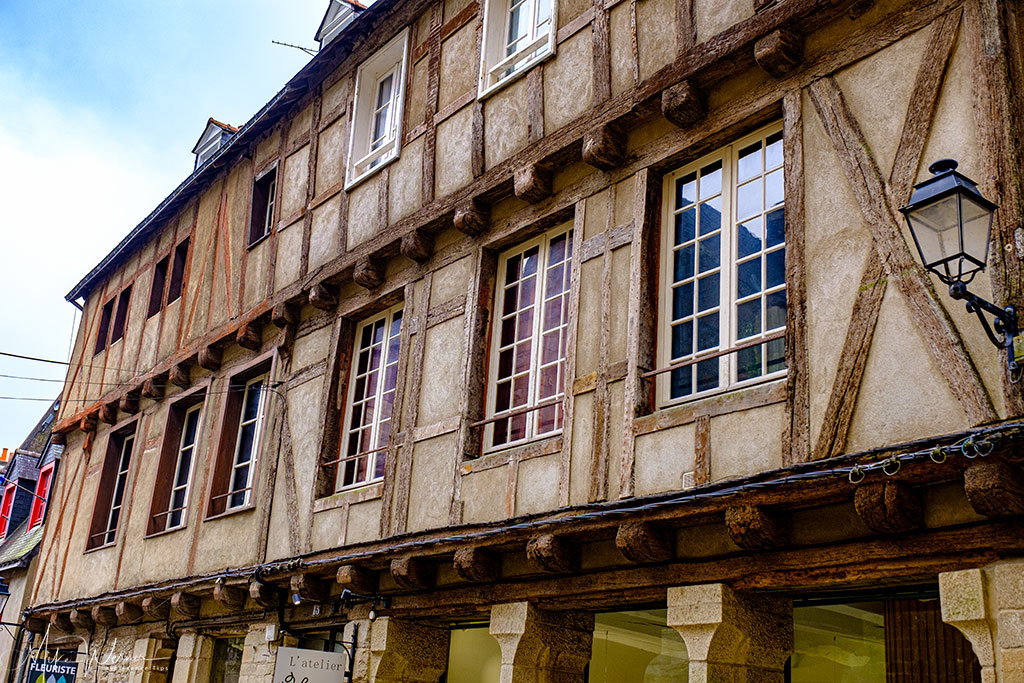 Some bigger wooden houses in Vannes, Brittany