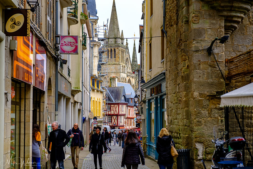 Narrow streets in Vannes, Brittany