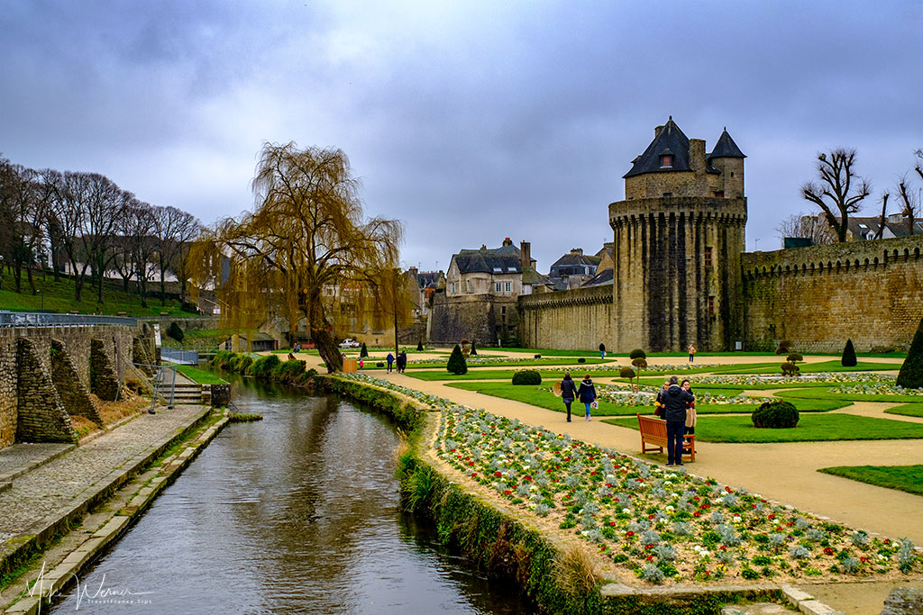 The fortified walls of Vannes, Brittany