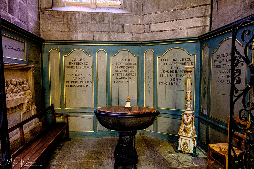 Baptism area of the Saint-Pierre cathedral of Vannes