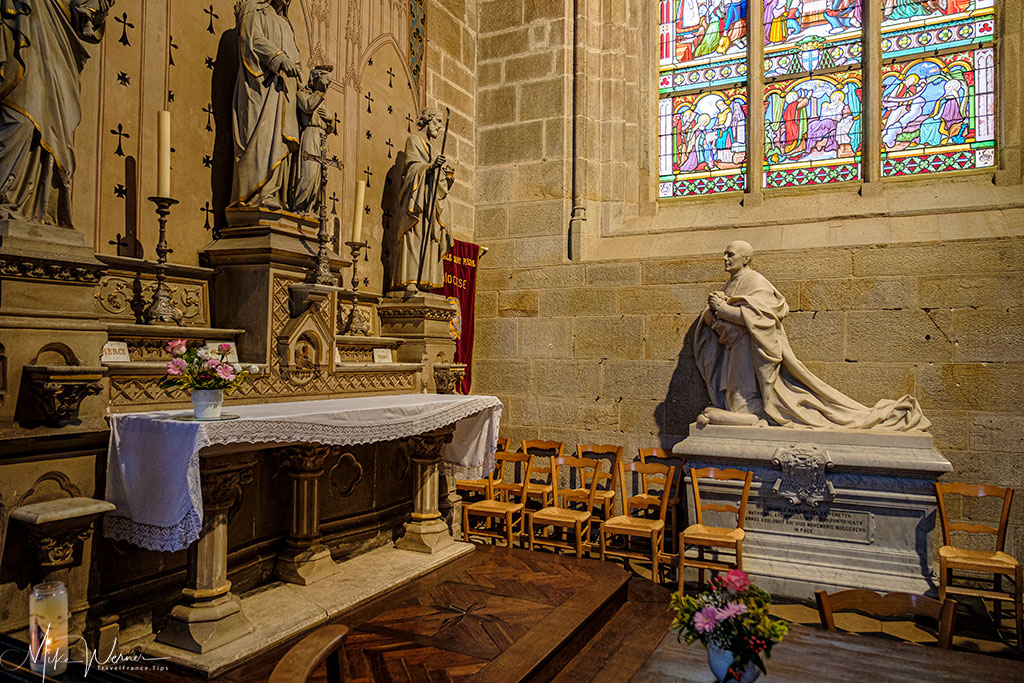 One of 10 chapels in the Saint-Pierre cathedral in Vannes