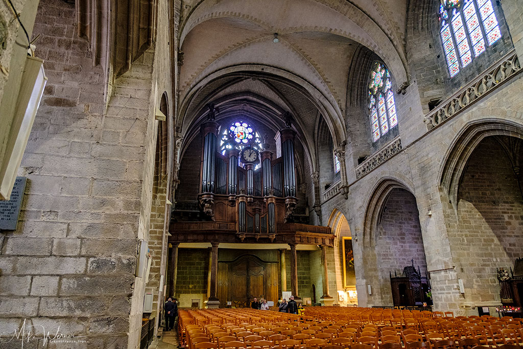 The organ in the Saint-Pierre cathedral in Vannes