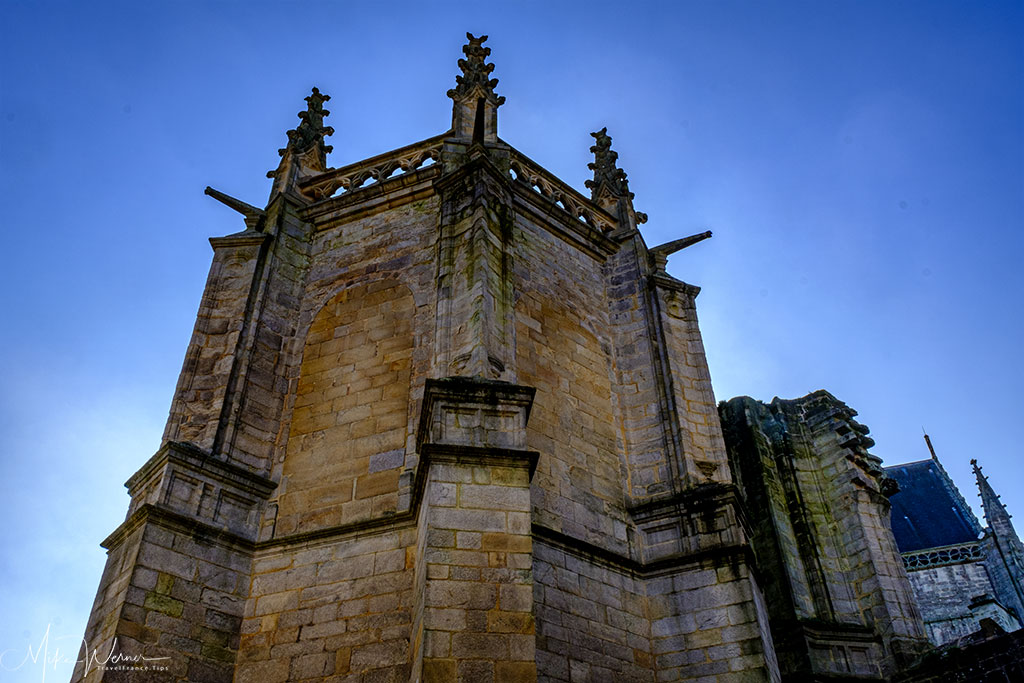 Tower of the Saint-Pierre cathedral in Vannes, Brittany