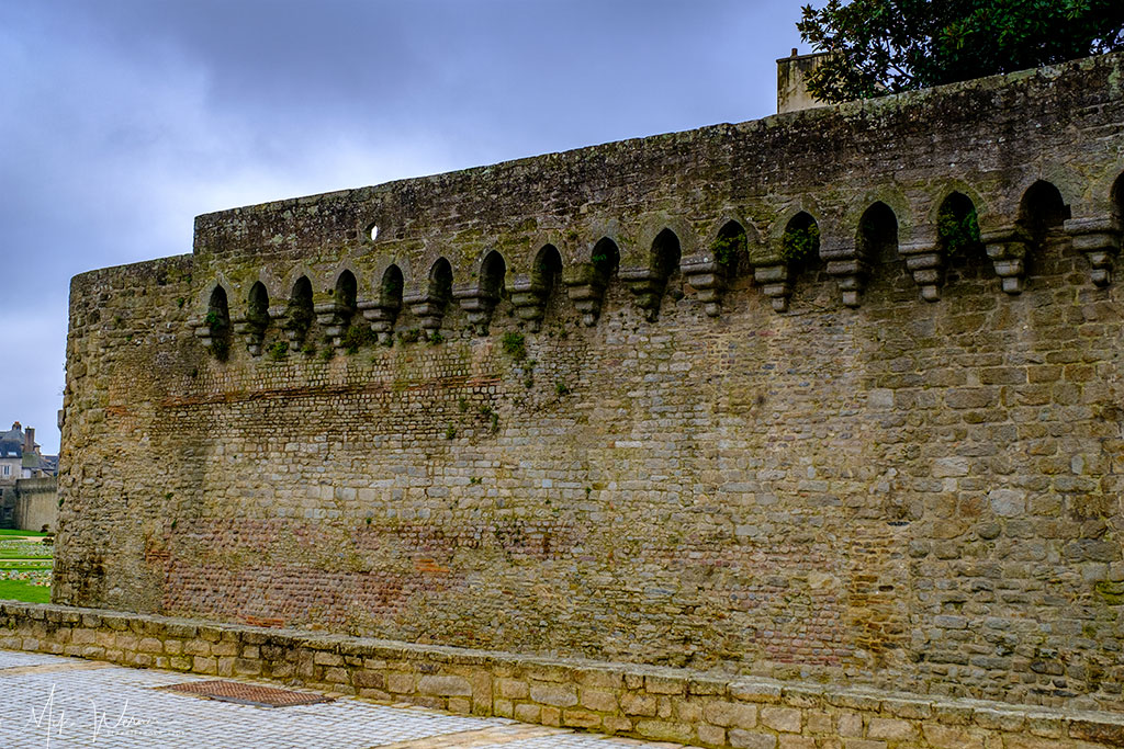 Roman built ramparts of the city of Vannes in Brittany