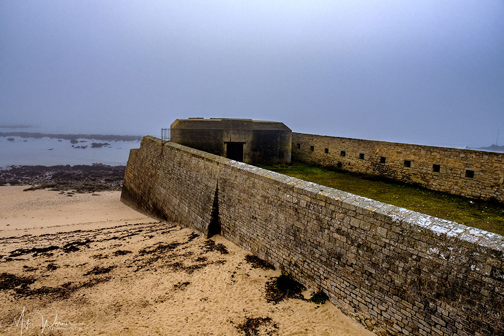 German WWII bunker in the fortress/citadel of Port-Louis, Brittany