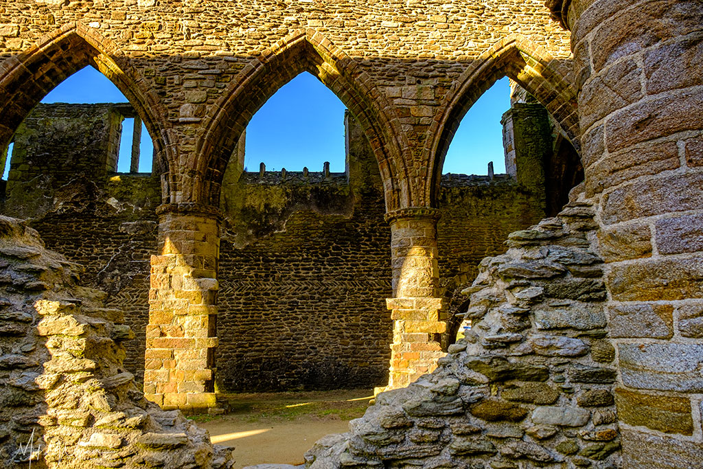 Ruins of the Saint-Mathieu de Fine-Terre abbey at Pointe saint-Mathieu in Brittany