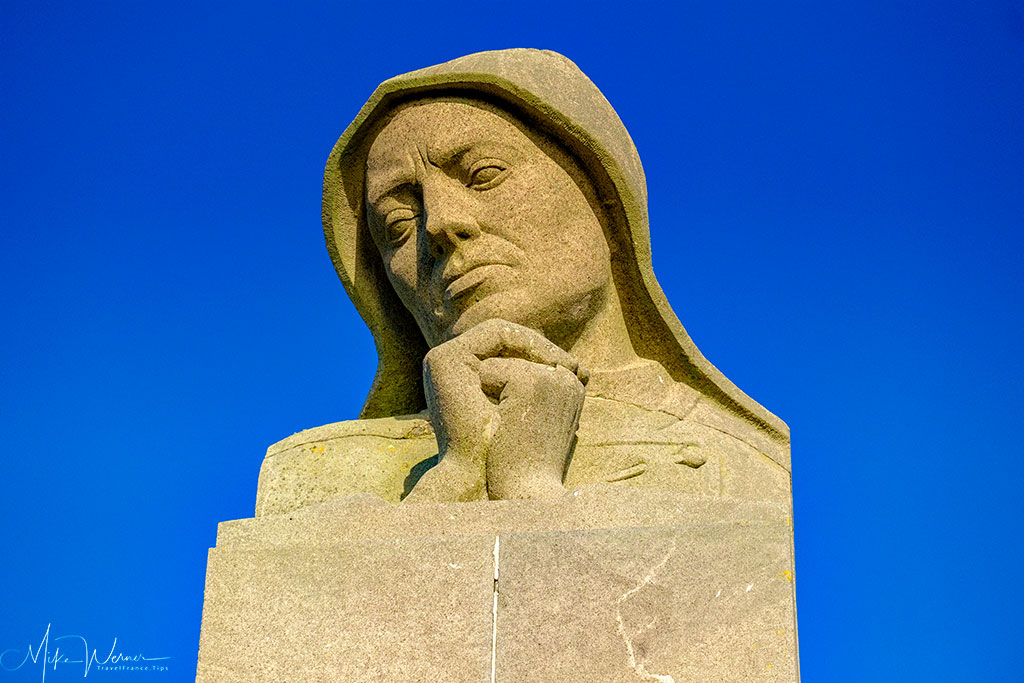 Top of the Memorial at Pointe Saint-Mathieu, Brittany