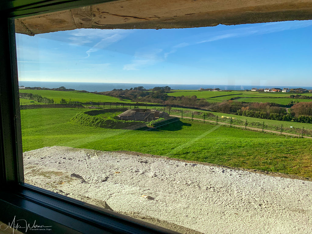 View from the top of the WWII German bunker at the 39-45 Memories Museum at Pointe Saint-Mathieu in Brittany