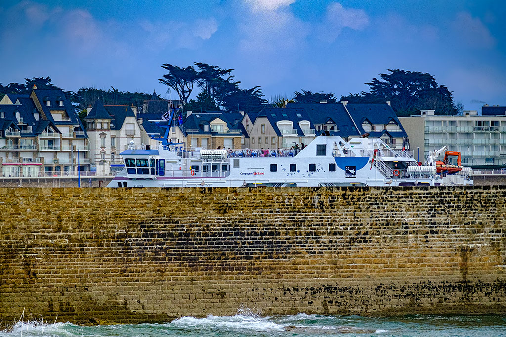 Ferry arriving at Port Maria in Quiberon, Brittany
