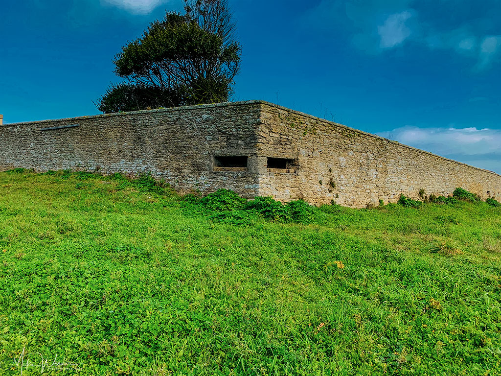 Artilerie positions in Fort neuf in Quiberon, Brittany