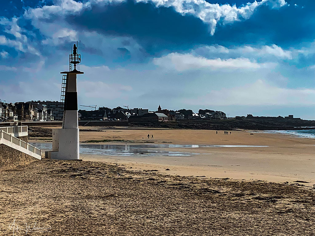 Sandy beach, known as La Grande Plage, in Quiberon, Brittany