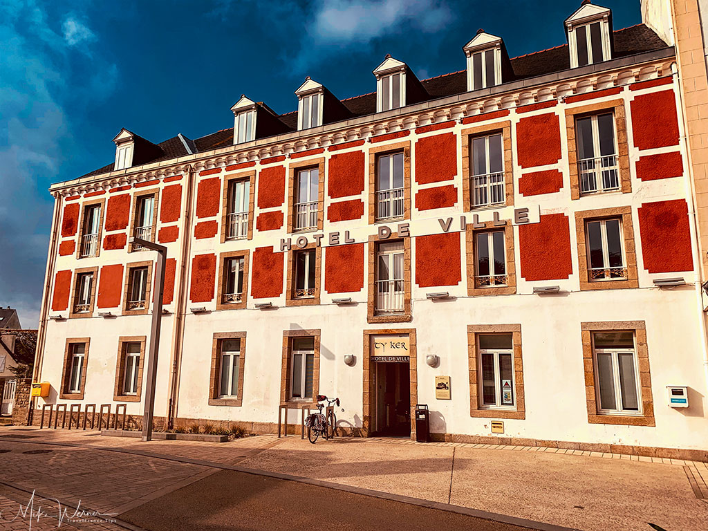 City Hall (Mairie or Hotel de Ville) of Quiberon, Brittany