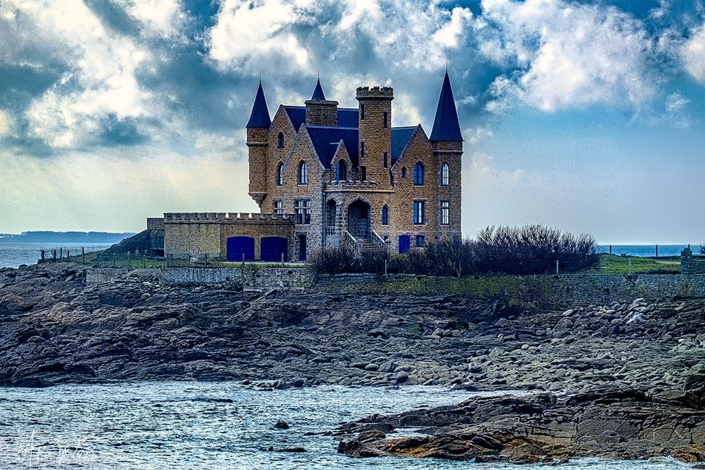 Present day castle in Quiberon, Brittany