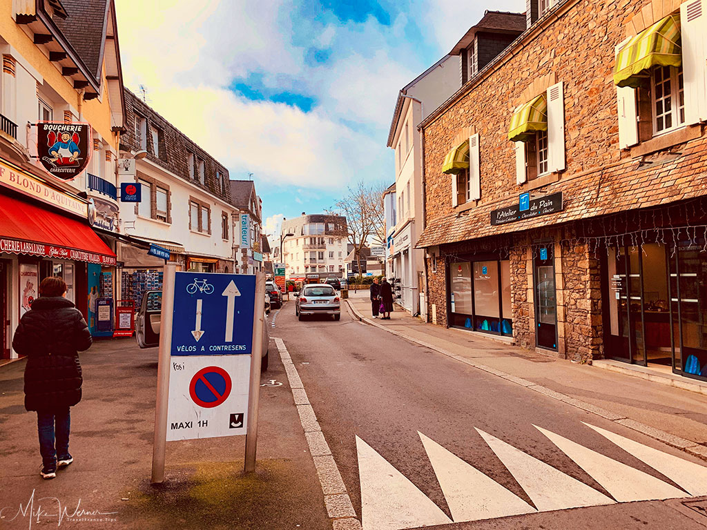 Shopping street in Quiberon, Brittany