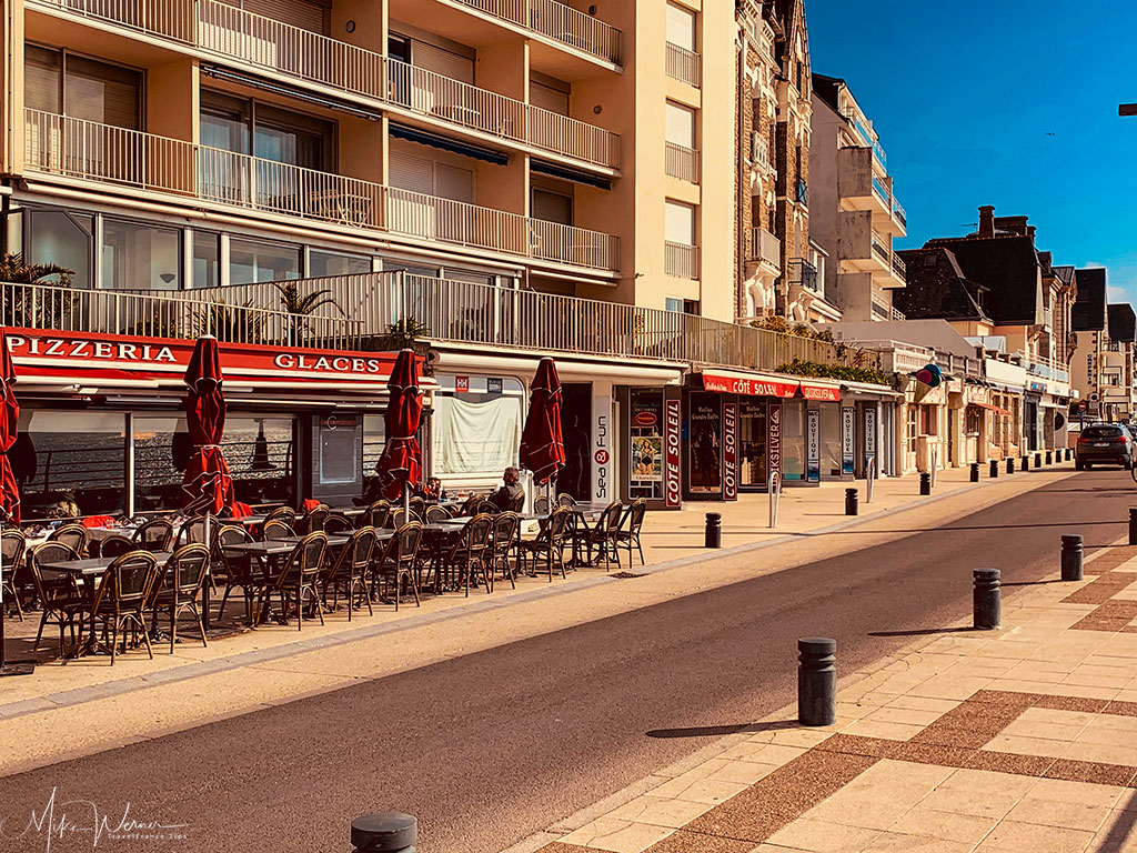 Beachside terraces in Quiberon, Brittany