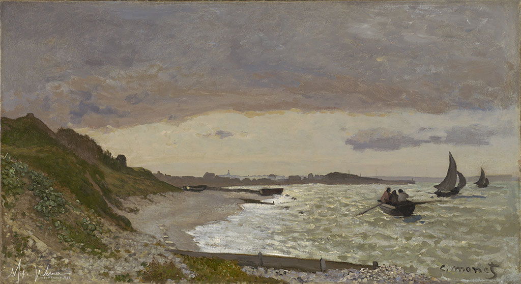 1864 Claude Monet -The Coast at Sainte-Adresse