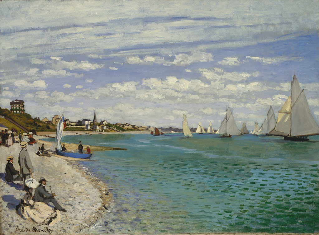 1867 Claude Monet-Regatta at Sainte-Adresse