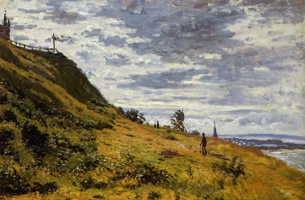 1867 Claude Monet - Taking a Walk on the Cliffs of Sainte-Adresse