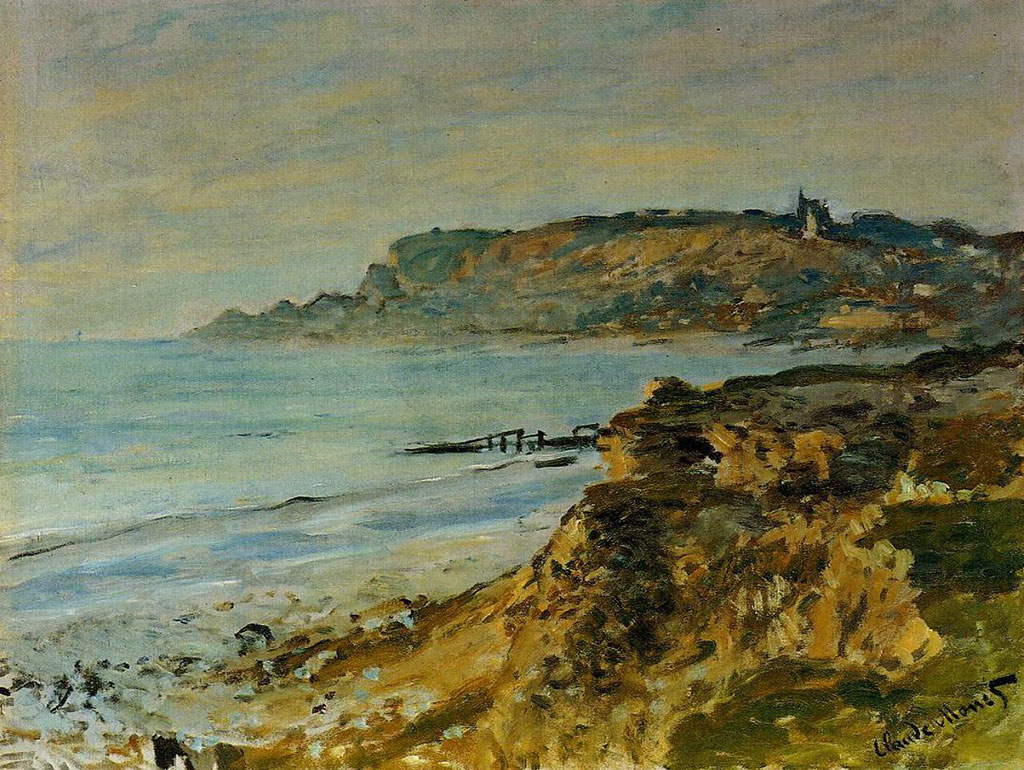 1873 Claude Monet-Cliff at Sainte-Adresse