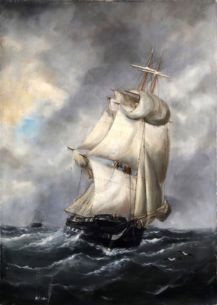 1889 Edouard Adam - Storm in Le Havre