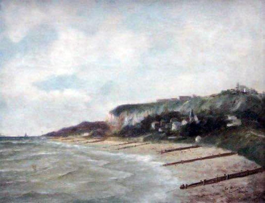 1901 - Adam Edouard - The beach of Sainte Adresse
